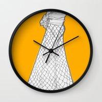 nouveau Wall Clocks featuring Nouveau by Madame Mim