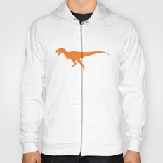 T-rex Orange Dinosaur Hoody