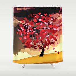 Herzbaum Shower Curtain