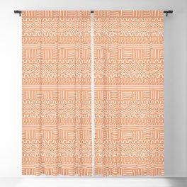 Mud Cloth on Orange Blackout Curtain