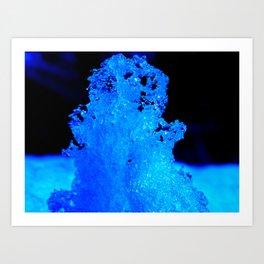 Snow Crystal Blue Art Print