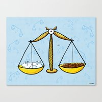 libra Canvas Prints featuring Libra by Giuseppe Lentini