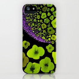 Paths of Color [green & purple] iPhone Case