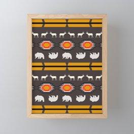 Deer and bears Framed Mini Art Print