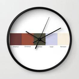 Historic Ice Cream Flavors 2 Wall Clock