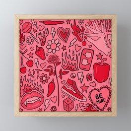 Red Print Framed Mini Art Print