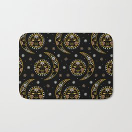 Celestial pattern in tribal style and ethnic motif Bath Mat