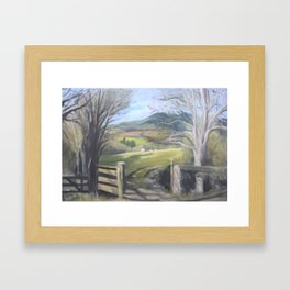 Country gate Framed Art Print