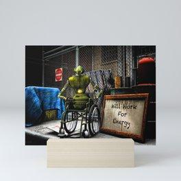 Will Work For Energy Mini Art Print