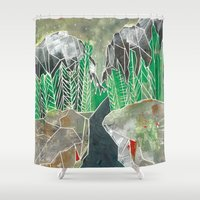 twilight Shower Curtains featuring Twilight by Fitz Farm