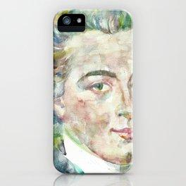 IMMANUEL KANT - watercolor portrait iPhone Case