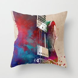 Guitar art 21 #guitar #music Throw Pillow
