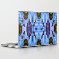 contemporary Laptop & iPad Skins featuring Contemporary Christmas  by Louisa Catharine Art And Patterns