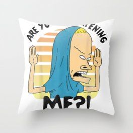 Beavis and Butthead Cornholio Quote Graphic T-Shirt Throw Pillow