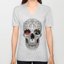 Lace Skull Light Unisex V-Neck