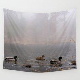 Fog Ducks Wall Tapestry