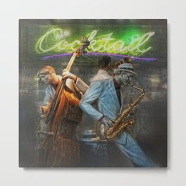 fifties cocktail jazz Metal Print