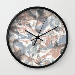 Marble Mist Terra Cotta Blue Wall Clock