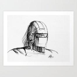 Warbot Sketch #006 Art Print