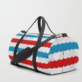 The Sailor - Vintage Nautical Striped Waves RWB Duffle Bag