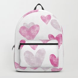 Pink Heart Confetti Backpack