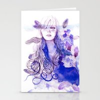 nausicaa Stationery Cards featuring Nausicaa by Sarah Bochaton