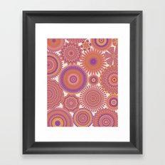 Kaleidoscopic-Fiesta colorway Framed Art Print