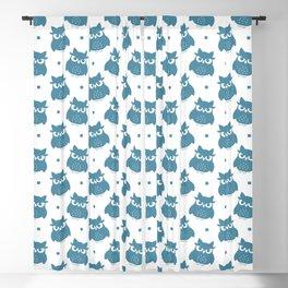 Blue Cute Owl Seamless Pattern Blackout Curtain
