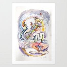 R.B.Sea Snake Art Print