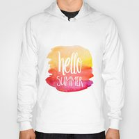 xbox Hoodies featuring Hello Summer by Text Guy