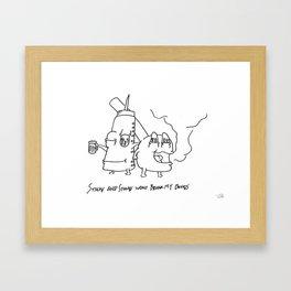 """""""Sticks and Stones"""" Framed Art Print"""
