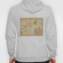 Vintage Norfolk and Portsmouth VA Harbor (1861) Hoody
