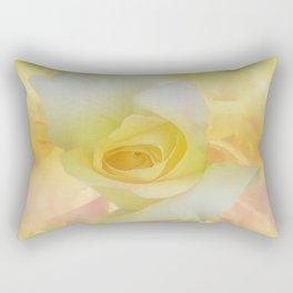 Painted Dream Rose Rectangular Pillow