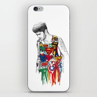 zayn iPhone & iPod Skins featuring Zayn Superhero  by Coconut Wishes
