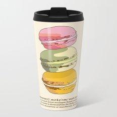 Sweet Macarons Metal Travel Mug