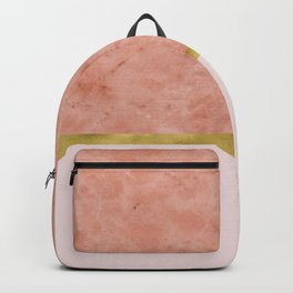 Ettore rosa on blush pink & gold Backpack