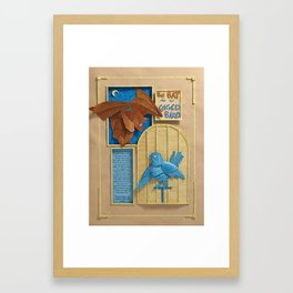 The Bat and the Caged Bird Framed Art Print
