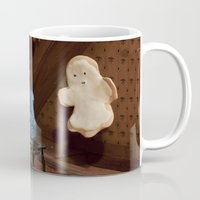 haunted mansion Mugs featuring Haunted Cookie Mansion by Cuddles and Rage