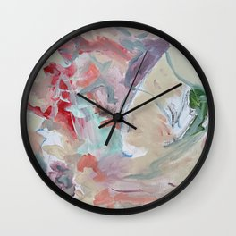 Sushi Landscape - Original Art Canvas Painting by Jacob von Sternberg aka Anutu Wall Clock
