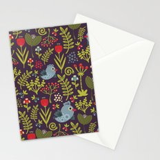Folk birds.  Stationery Cards