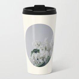 Comforting White Flowers Travel Mug