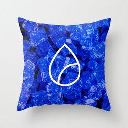 Lapis Lazuli Candy Gem Throw Pillow