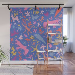 Frid Menagerie in Azul Wall Mural