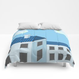 Blue roofs Comforters