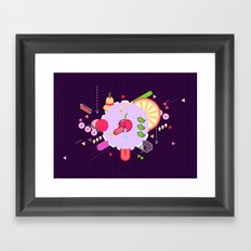 Tasty Visuals - Cherry Poppin' Framed Art Print