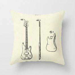 Bass Guitar-1960 Throw Pillow
