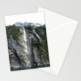 The Waterfalls at Milford Sound, New Zealand 02 Stationery Cards