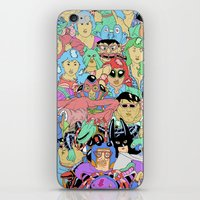 it crowd iPhone & iPod Skins featuring Crowd by Joseph Falzon