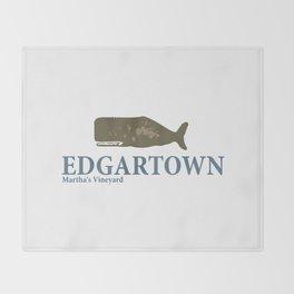 Edgartown - Martha's Vineyard. Throw Blanket