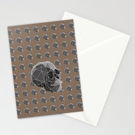 Geometric skulls Stationery Cards
